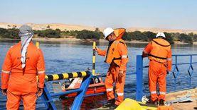 «طيبة 6».. تدريب عملي لمكافحة تلوث بترولي في نهر النيل بأسوان