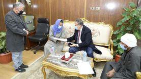 دعم الأسر المتضررة من خط سكة حديد «كفر داود - السادات» بمساعدات مالية