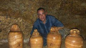 """الكشف عن مقبرة المشرف على الخزانة الملكية """"بادى است"""" في المنيا"""