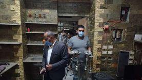 تحرير 4 محاضر لخرق مواعيد الغلق ومصادرة 60 شيشة في الإسماعيلية