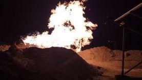 التفاصيل الكاملة لحريق بئر مياه جرجا: مشتعل منذ أكثر من 48 ساعة