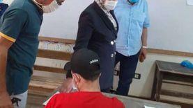 محافظ بني سويف يتابع  أعمال الامتحان التجريبي الثالث لطلاب الثانوية