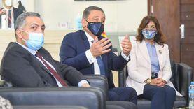 مكرم وسفير ألمانيا يزوران المركز المصري الألماني للوظائف وإعادة الإدماج