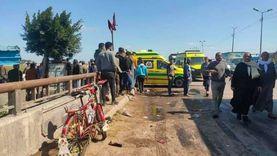 مصرع 3 وإصابة 14 آخرين في حادث تصادم سيارتين بالبحيرة