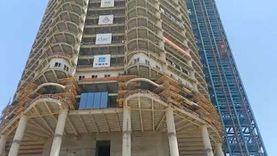 وزير الإسكان يشهد احتفالية انتهاء الأعمال الخرسانية للبرج الأيقوني