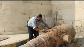آثار الإسكندرية: نقل مدفع من عصر الخديوي إسماعيل لقلعة قايتباي لترميمه