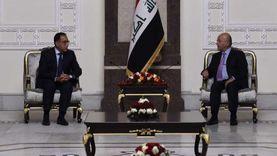 """""""صالح"""" يشيد بدعم مصر المستمر للعراق ويصف السيسي بالصديق العزيز"""