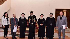 """البابا يستقبل مجلس كنيسة """"عذراء الزيتون"""" وكاهن نيوجيرسي"""