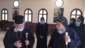 صور.. أسقف جنوب سيناء يزور دير القديس موسى النبي برأس سدر