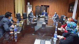 رئيس جامعة بني سويف يستقبل مدير التحول الرقمي بوزارة التعليم العالي