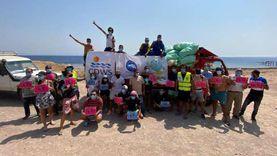 """""""احتفالا بيوم التنظيف العالمي"""".. حملة لتنظيف شواطئ مدينة دهب"""