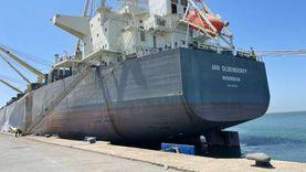 ميناء شرق بورسعيد يستقبل أكبر سفينة صب جاف لشحن 60 ألف طن «كلينكر»