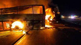 تسليم جثامين 7 ضحايا في حادث صحراوي أسيوط لذويهم