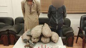 ضبط بانجو وطلقات نارية بحوزة متهمين بالاتجار في المخدرات في القنطرة
