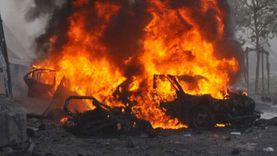 """انقلاب سيارة محملة بالوقود على طريق """"مصر- الإسماعيلية"""" تتحول لكتلة لهب"""
