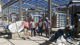 """رئيس """"مياه الشرب والصرف الصحي"""" يتفقد محطة التحلية بمدينة رأس سدر"""
