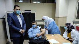 بدء تطعيم الأطقم الطبية بمستشفى الباجور بلقاح كورونا (صور)