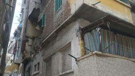 انهيار أجزاء عقار مكون من 4 طوابق غرب الإسكندرية