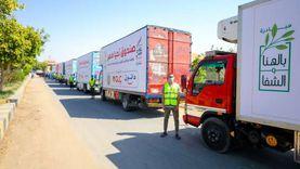 بـ37 طنا.. «تحيا مصر»يطلق قافلة مساعدات في الواحات البحرية