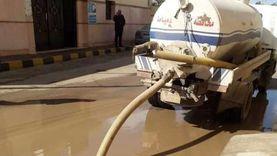 كسح مياه الأمطار بميت أبو غالب..وانتظام حركة الملاحة البحرية (صور)