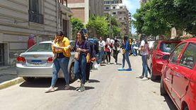 إصابة طالب بخلع بالكتف وأخرى بأزمة صدرية في لجان الإسكندرية