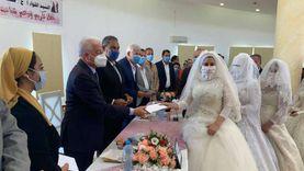 بالكمامات.. جنوب سيناء تنظم حفل زفاف جماعي لـ27 عروسة من الأيتام