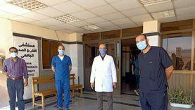 تراجع إصابات كورونا بـ14 مستشفى بالمنيا