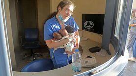 """المستشفى تدمر.. ممرضة بيروت تروي لـ""""الوطن"""" لحظات إنقاذ الرضع الخمسة"""