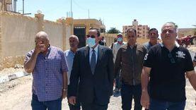 محافظ شمال سيناء يتفقد عددا من المشروعات بالشيخ زويد