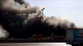 السيطرة على حريق هائل في مصنع على الطريق الزراعي بدمنهور