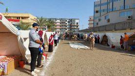 تجهيز حديقة مدينة الطالبات بجامعة دمياط استعدادًا للعام الدراسي الجديد