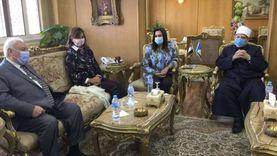 """وزيرة الهجرة تصل دمياط لحضور ندوة """"الأوقاف"""" عن مخاطر الهجرة غير الشرعية"""