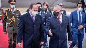 عاجل.. بدء أعمال القمة بين  الرئيس السيسي والعاهل الأردني