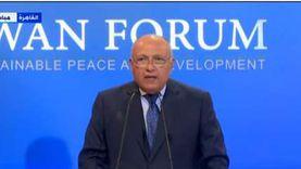 سامح شكري: نرفض وجود قوات تركية على أرض عربية شقيقة