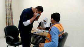 6 مشاهد في أول يوم لبدء تلقي لقاح كورونا بمستشفى «أبو خليفة»
