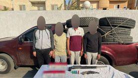 ضبط لصوص «الكاوتش» في بدر.. سرقوا ضحاياهم بتهديد السلاح