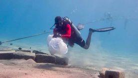 صور.. حملة مكبرة لتنظيف قاع البحر في شرم الشيخ
