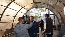 جامعة أسيوط تواصل استقبال الطلاب بإجراءات وقائية مشددة