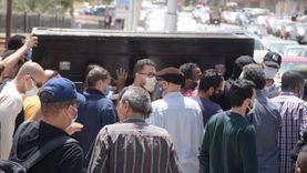 صلاة الجنازة على والدة الفنان أحمد خالد صالح