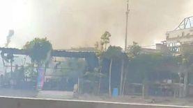 5 سيارات إطفاء للسيطرة على حريق بوص في القليوبية