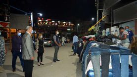 """""""جولة مسائية"""" لمحافظ القليوبية لإزالة إشغالات الطرق وتحرير 24 محضراً"""