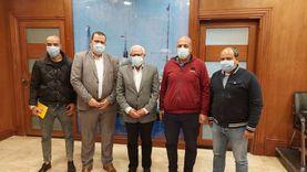 محافظ بورسعيد يستقبل مدير فرع المقاولين العرب بالقناة وسيناء
