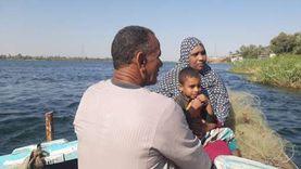 الزوجة الجدعة رزق.. قصة كفاح متولي وأميمة في صيد السمك بـ نيل قنا