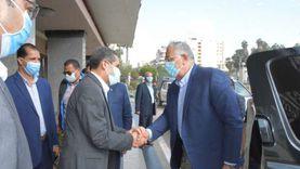 محافظ الغربية ونائبه يستقبلان وزير الزراعة لافتتاح عدد من المشروعات