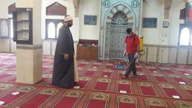 تطبيق إجراءات النظافة والتطهير داخل وخارج مساجد جنوب سيناء