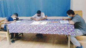 """ورشة """"أون لاين"""" بثقافة مطروح لتعليم فنون التشكيل الورقى"""