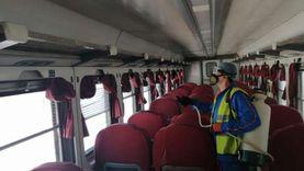 بالصور.. تعقيم قطارات الـvip والروسية والـTOP VIP للوقاية من كورونا