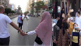أجواء العيد في مصطفى محمود: قصات غريبة ورقص شعبي وسلفي