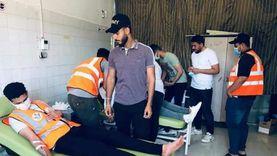 شباب الشيخ زويد يتبرعون بدمائهم لمصابي غزة «صور»