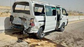 مصرع شخص وإصابة 22 آخرين في حادثين بطرق السخنة
